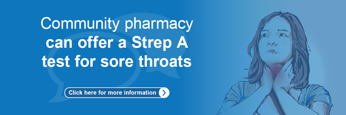 Community pharmacy can offer Strep A test for sore throat